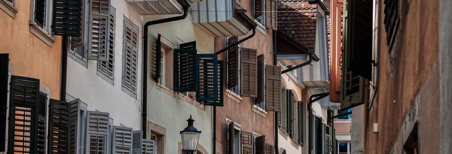 façade de maisons