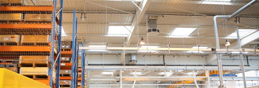 chauffage pour les bâtiments de grands volumes